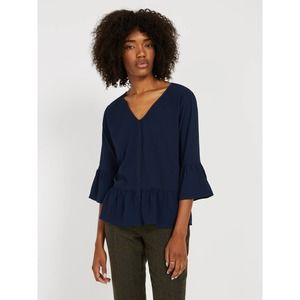 Frank and Oak V-Neck Bell Sleeve Blouse